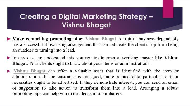 Creating a digital marketing strategy vishnu bhagat