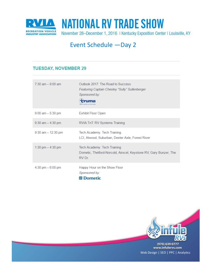 Event Schedule —Day 2