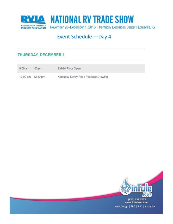 Event Schedule —Day 4