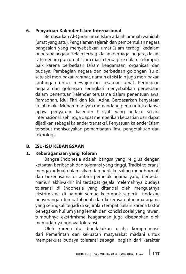 6. Penyatuan Kalender Islam Internasional