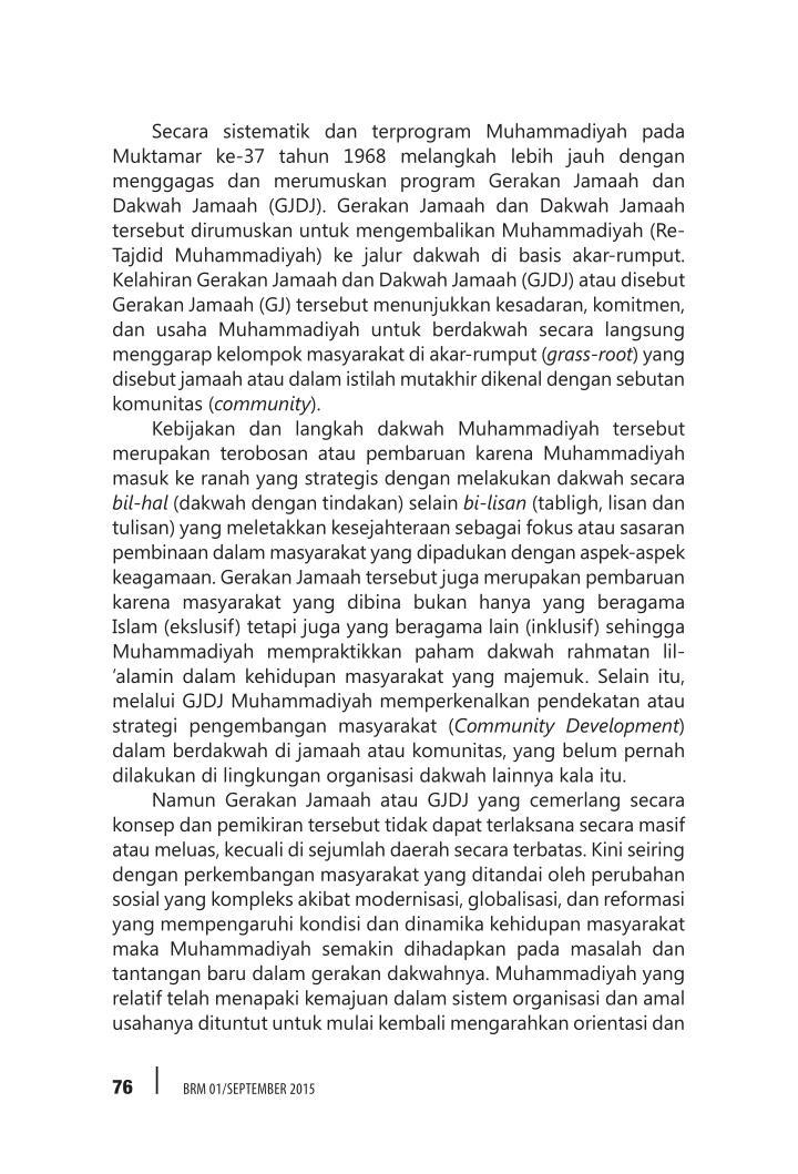 Secara sistematik dan terprogram Muhammadiyah pada