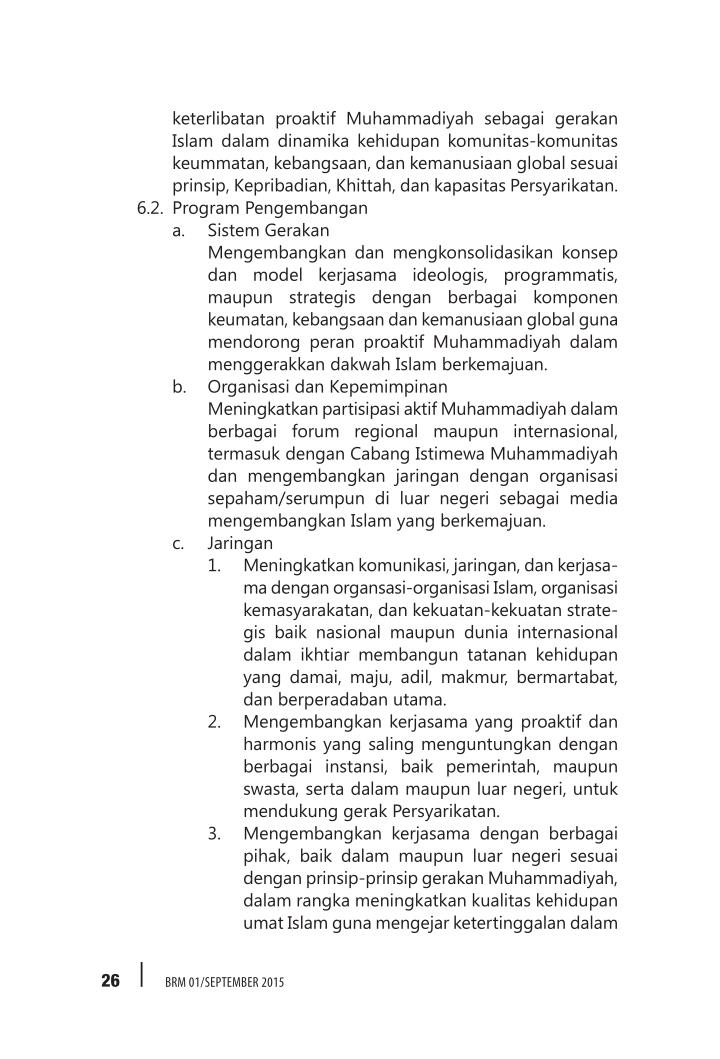 keterlibatan proaktif Muhammadiyah sebagai gerakan