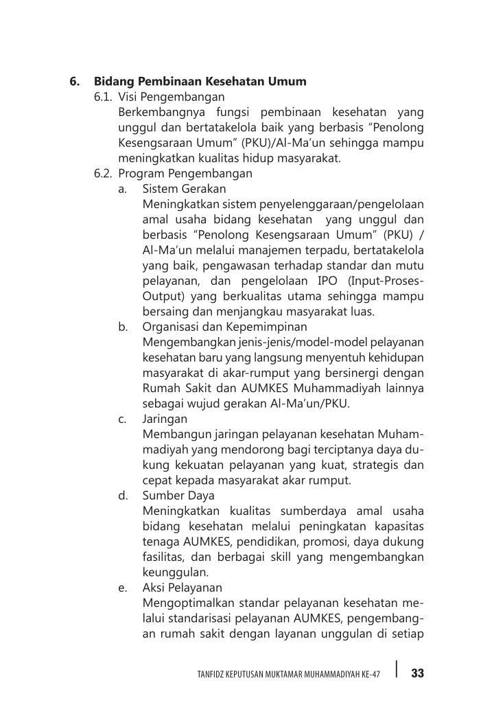 6. Bidang Pembinaan Kesehatan Umum