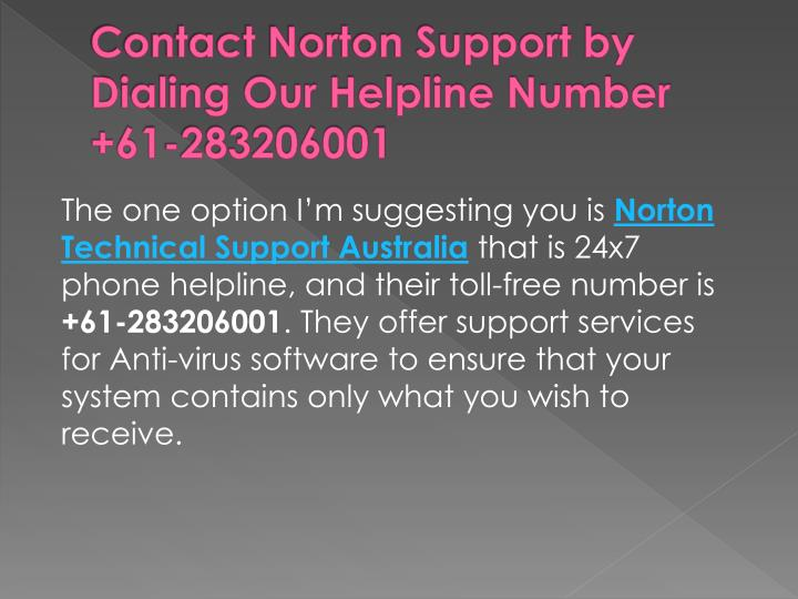 Contact Norton Support by Dialing Our Helpline Number +