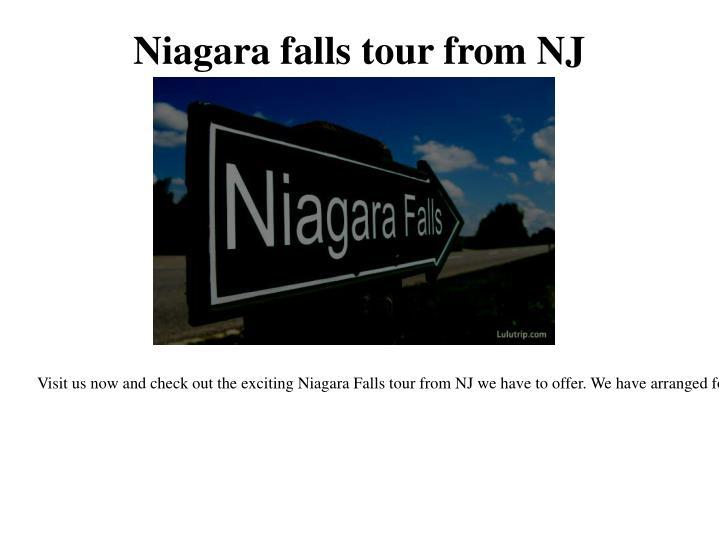 Niagara falls tour from NJ