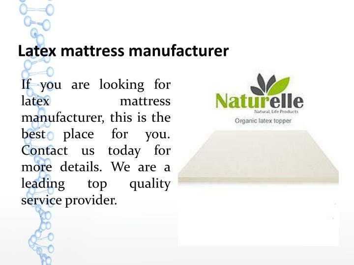 Latex mattress manufacturer