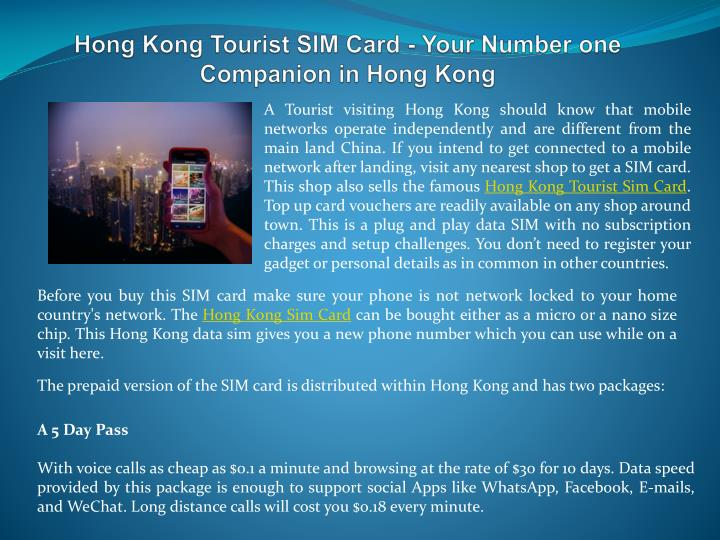Hong kong tourist sim card your number one companion in hong kong