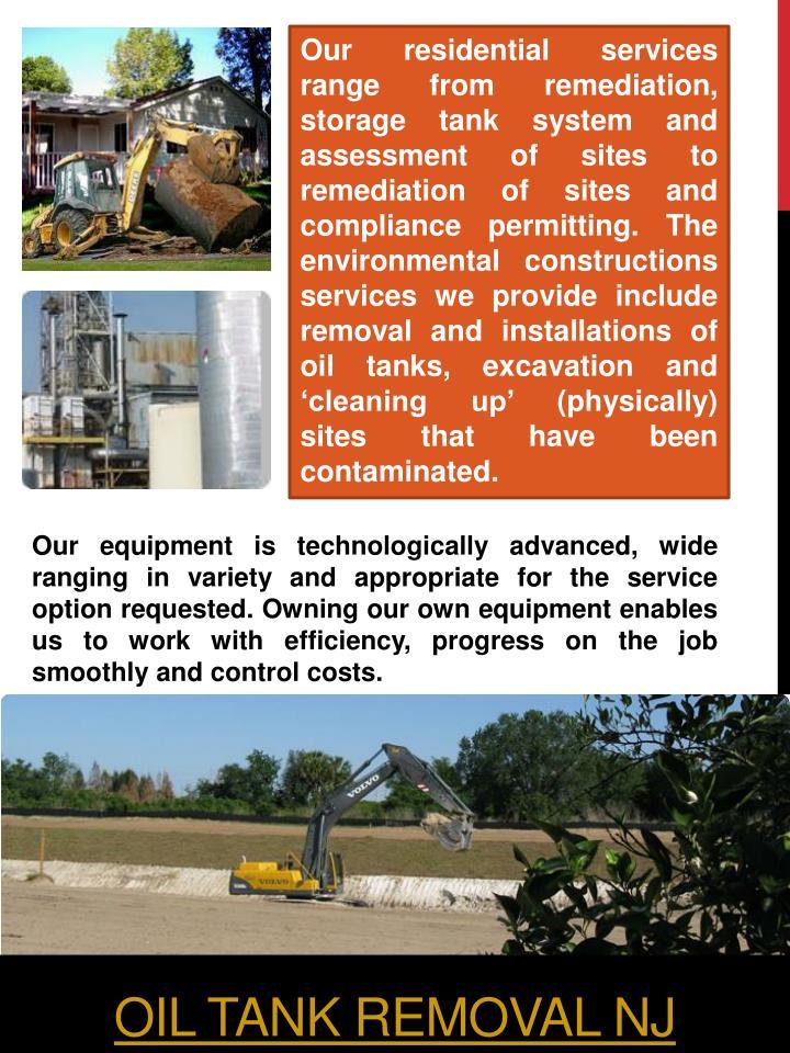Oil tank removal nj1