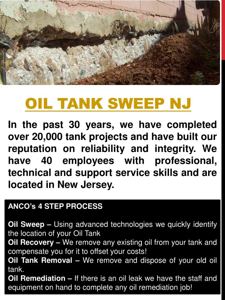 Oil tank sweep nj