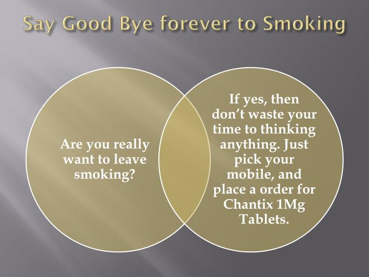 Say Good Bye forever to Smoking