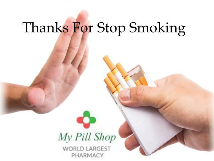 Thanks For Stop Smoking