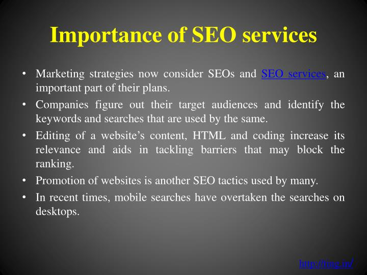 Importance of seo services