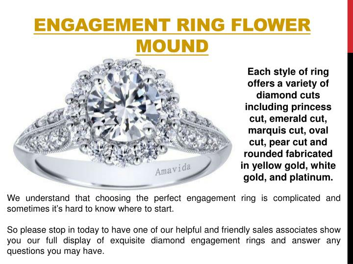 Engagement ring flower mound
