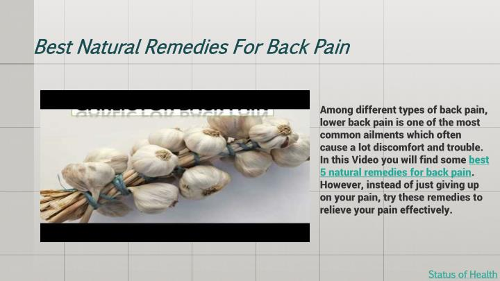 Best Natural Remedies For Back