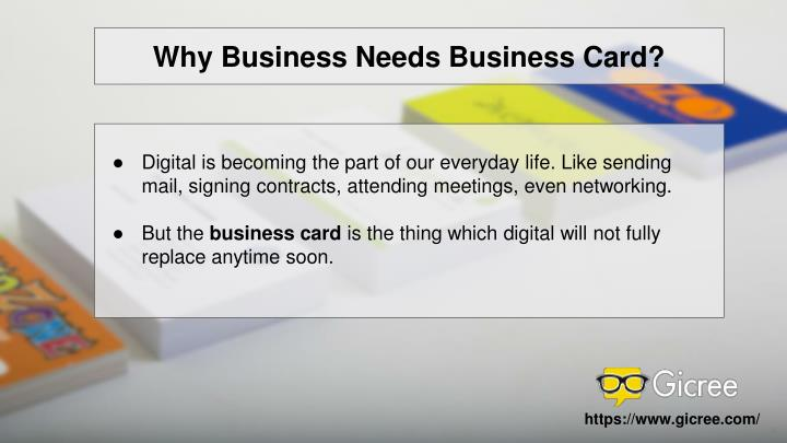 Why Business Needs Business Card?