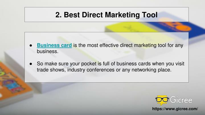 2. Best Direct Marketing Tool