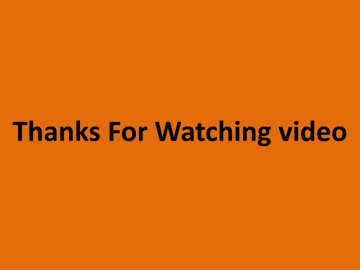 Thanks For Watching video