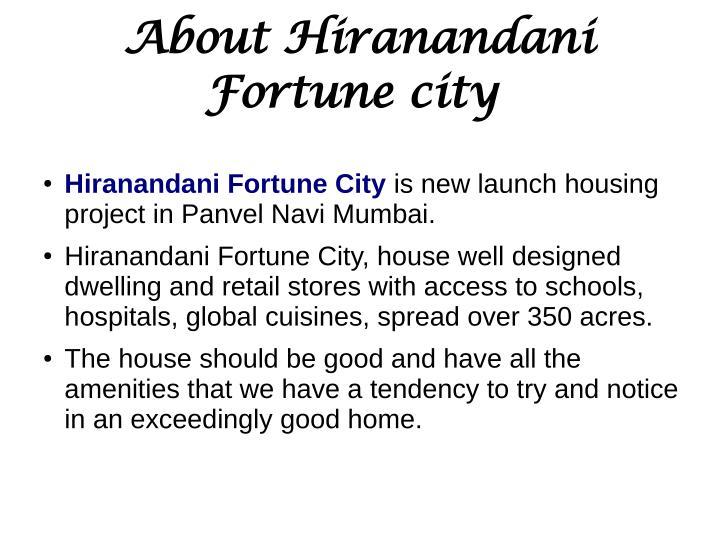 Hiranandani fortune city panvel