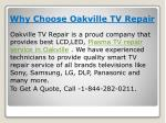why choose oakville tv repair