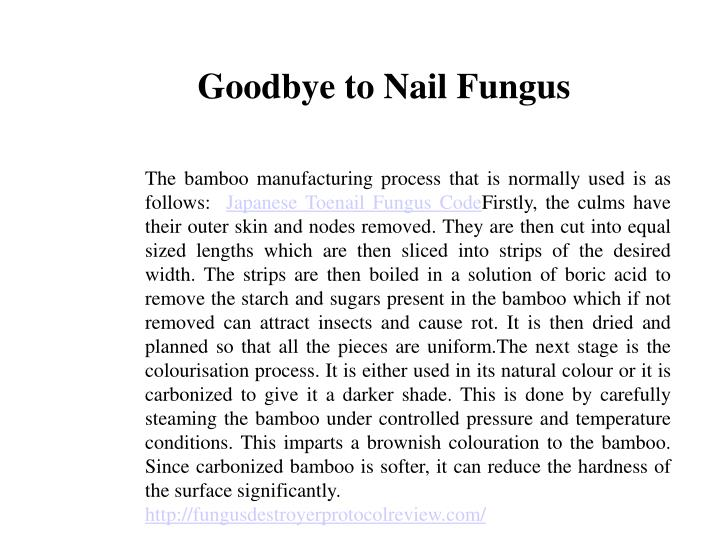 Goodbye to Nail Fungus