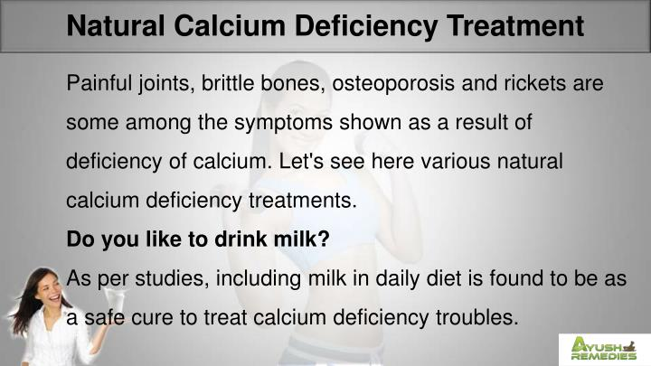 Natural Calcium Deficiency Treatment
