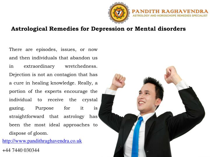 Astrological Remedies for Depression or Mental disorders
