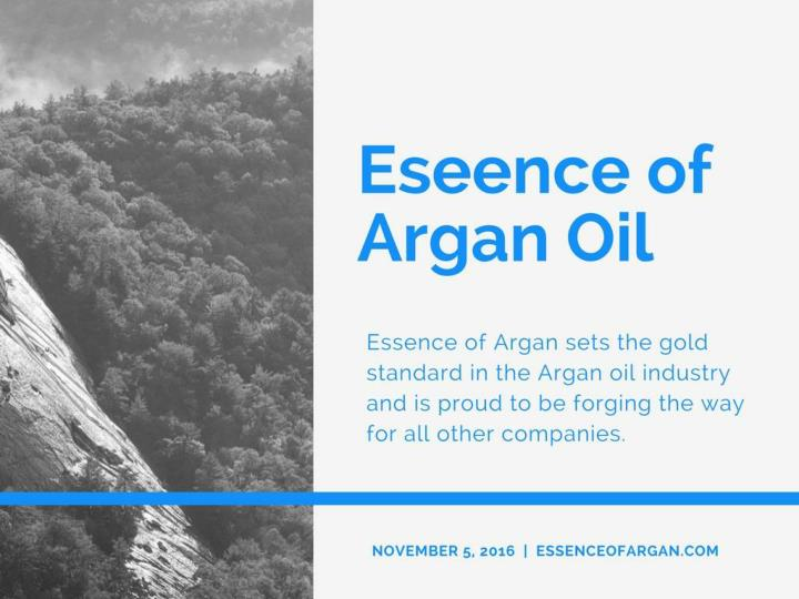 Pure argan oil essence of argan