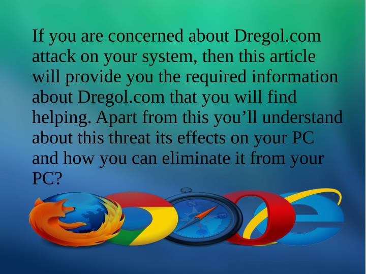If you are concerned about Dregol.com