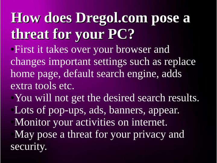 How does Dregol.com pose a