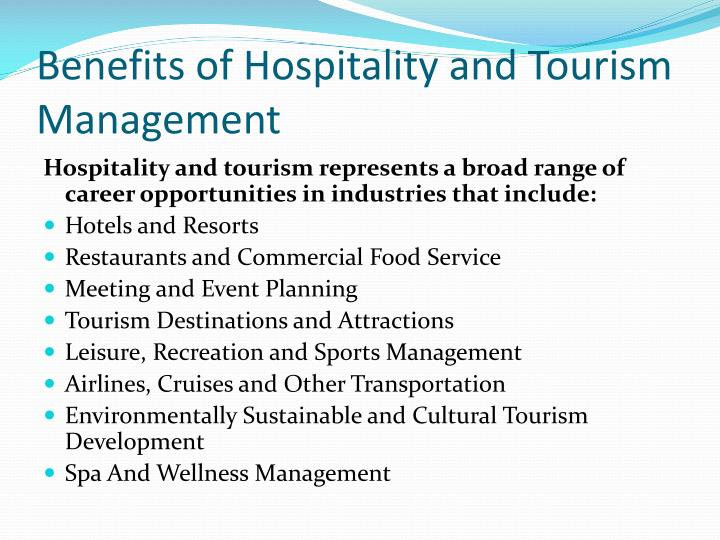 Benefits of Hospitality and Tourism
