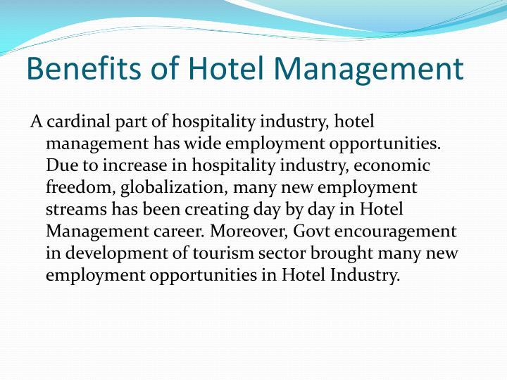 Benefits of Hotel