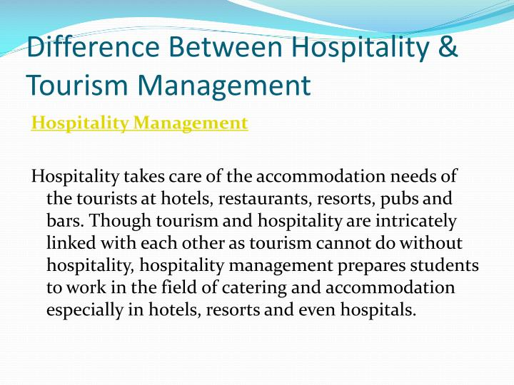the relationship between tourism and hospitality industry Evaluation of the relationship between tourism industry and economic growth in iran maryam lashkarizadeh department of economics firoozkooh branch, islamic azad.