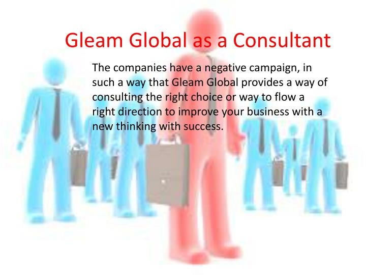 Gleam Global as a Consultant