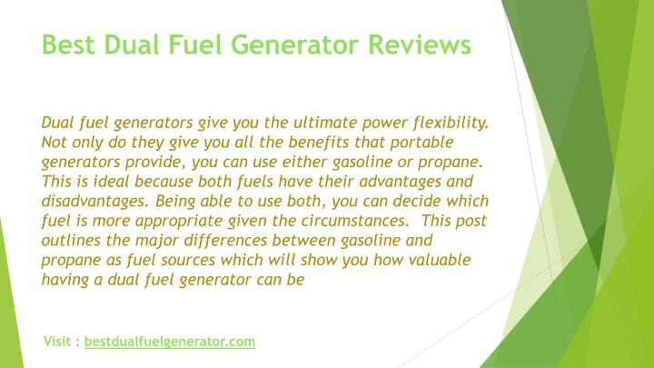 Best dual fuel generator reviews