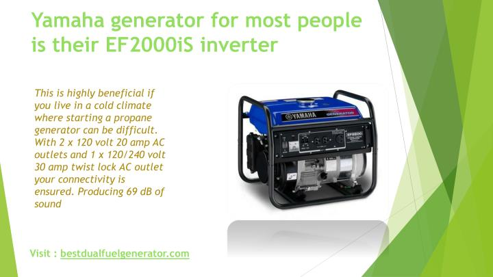Yamaha generator for most people is their EF2000iS inverter