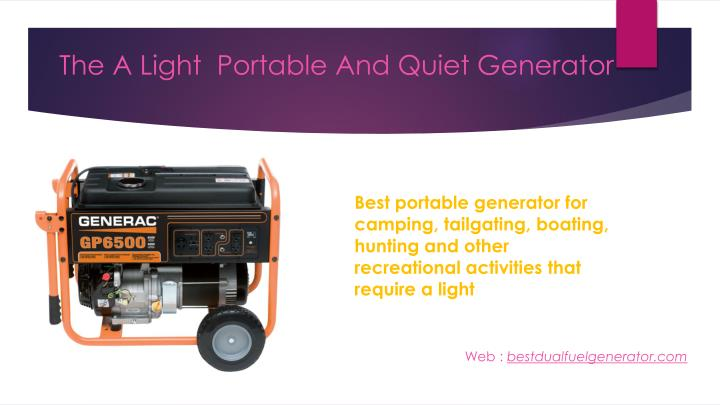The A Light  Portable And Quiet