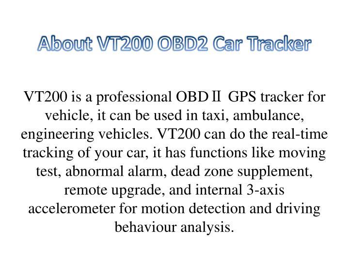 About vt200 obd2 car tracker