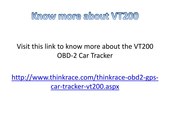 Know more about VT200