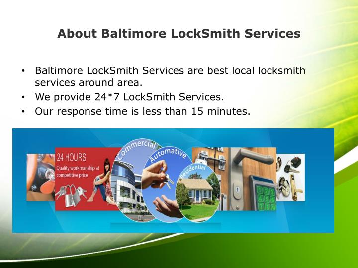 About baltimore locksmith services