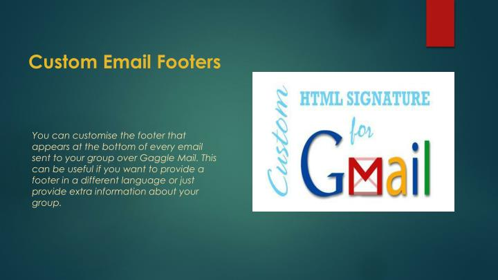 Custom Email Footers
