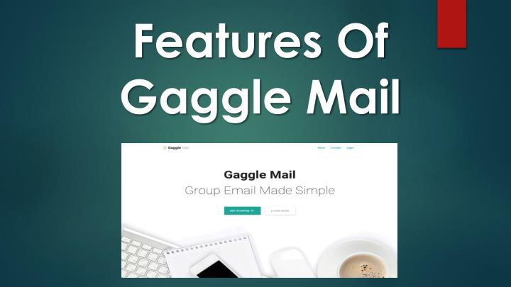 Features of gaggle mail