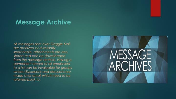 Message archive