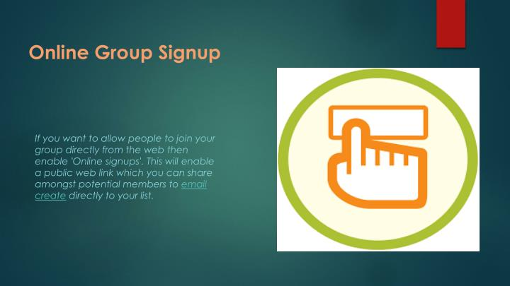 Online Group Signup