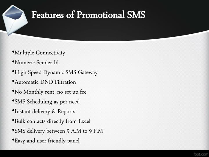 Features of Promotional SMS