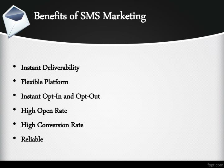 Benefits of SMS Marketing
