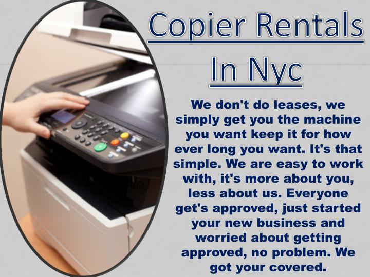 Copier rentals in nyc
