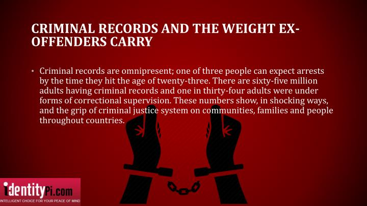 Criminal records and the weight ex offenders carry
