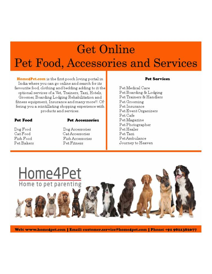 Pet food accessories and services home4pet