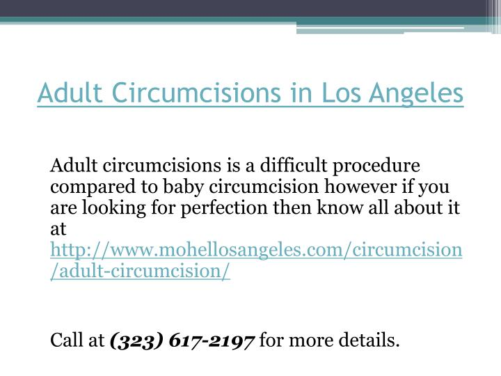 Adult Circumcisions in Los Angeles