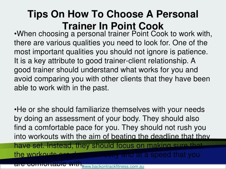 Tips on how to choose a personal trainer in point cook2